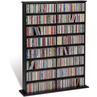 Prepac Black Double Width Wall Media (DVD,CD,Games
