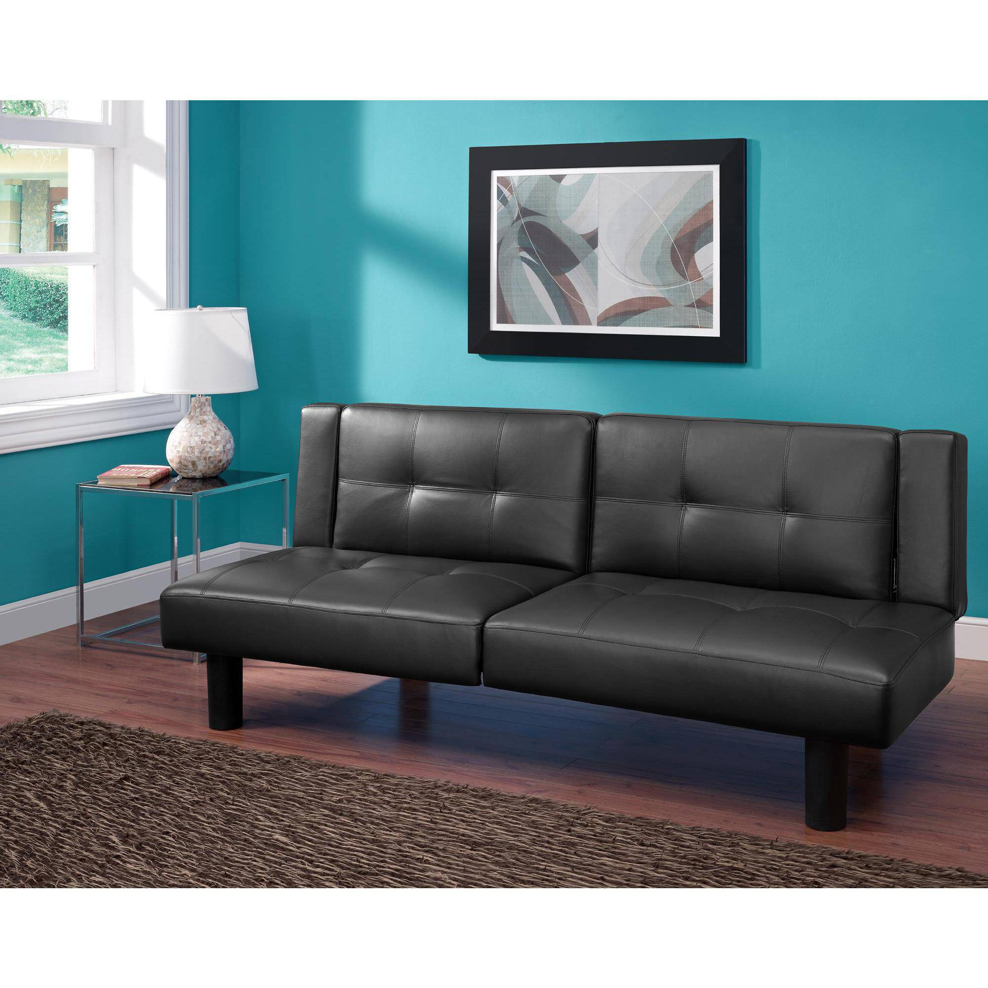 cup holder sofa bed house of fraser leather futon madrid with drop