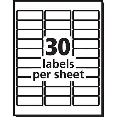 Avery Easy Peel White Mailing Labels for Laser Printers, 1