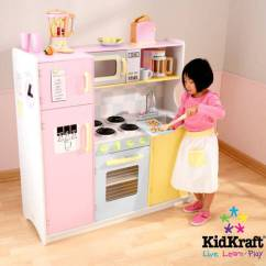 Wooden Play Kitchen Aid Grinder Details About Kidkraft Large Pastel With 3 Piece Accessories