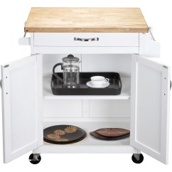 White Kitchen Island Cart Cast Iron Sink Mobile Portable Rolling Utility Storage Click Thumbnail To Enlarge