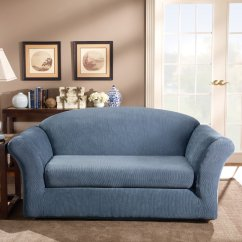 Sage Sofa Slipcovers Toy Sure Fit Stretch Stripe Slipcover Ebay