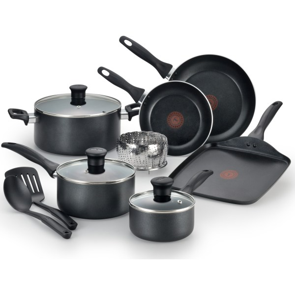 T-fal 12-piece Easy Care -stick Cookware Set Gray