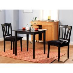 Three Piece Kitchen Sets Cabinet Trash Can 3 Dining Set Table 2 Chairs Room Wood