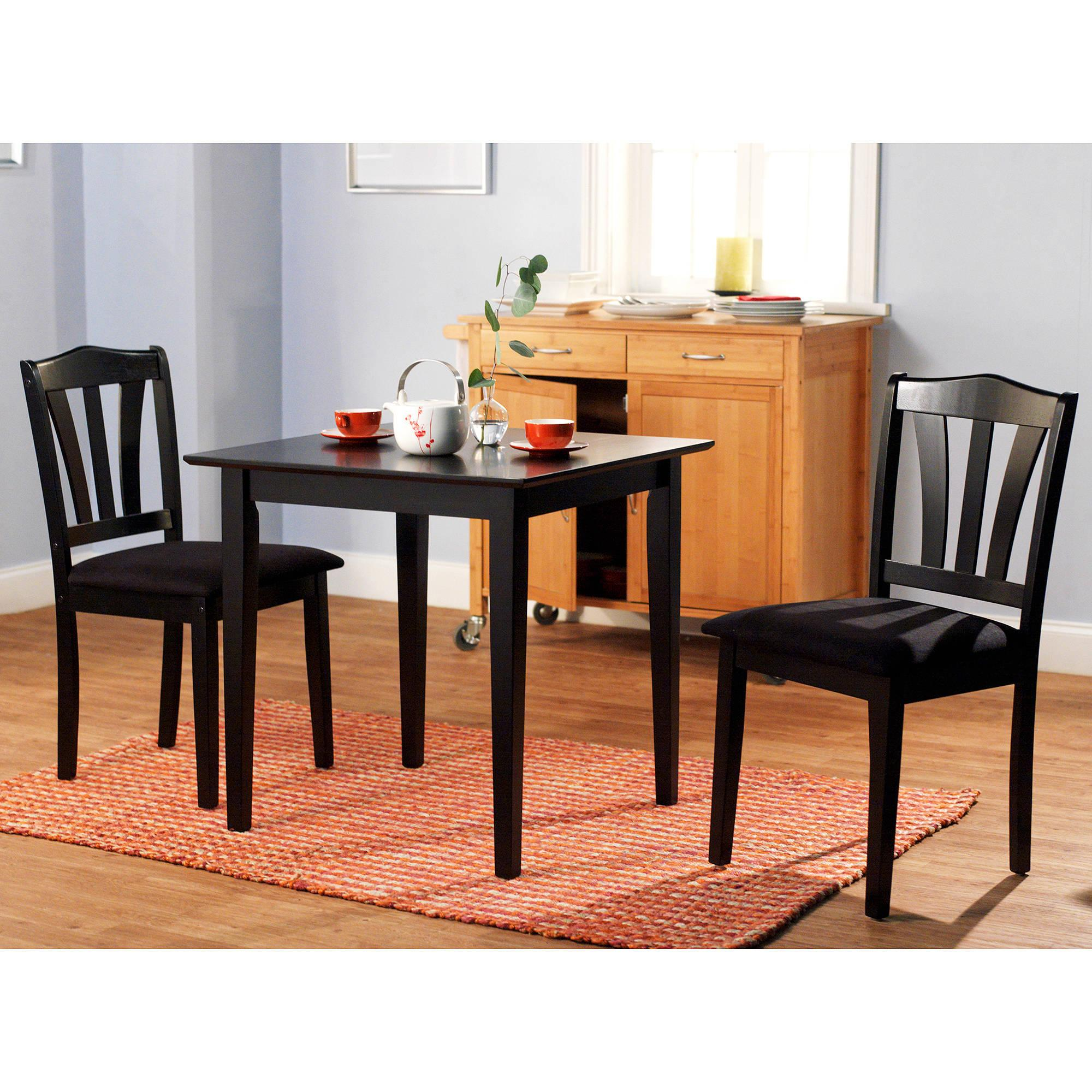 2 Chair Dining Table 3 Piece Dining Set Table 2 Chairs Kitchen Room Wood