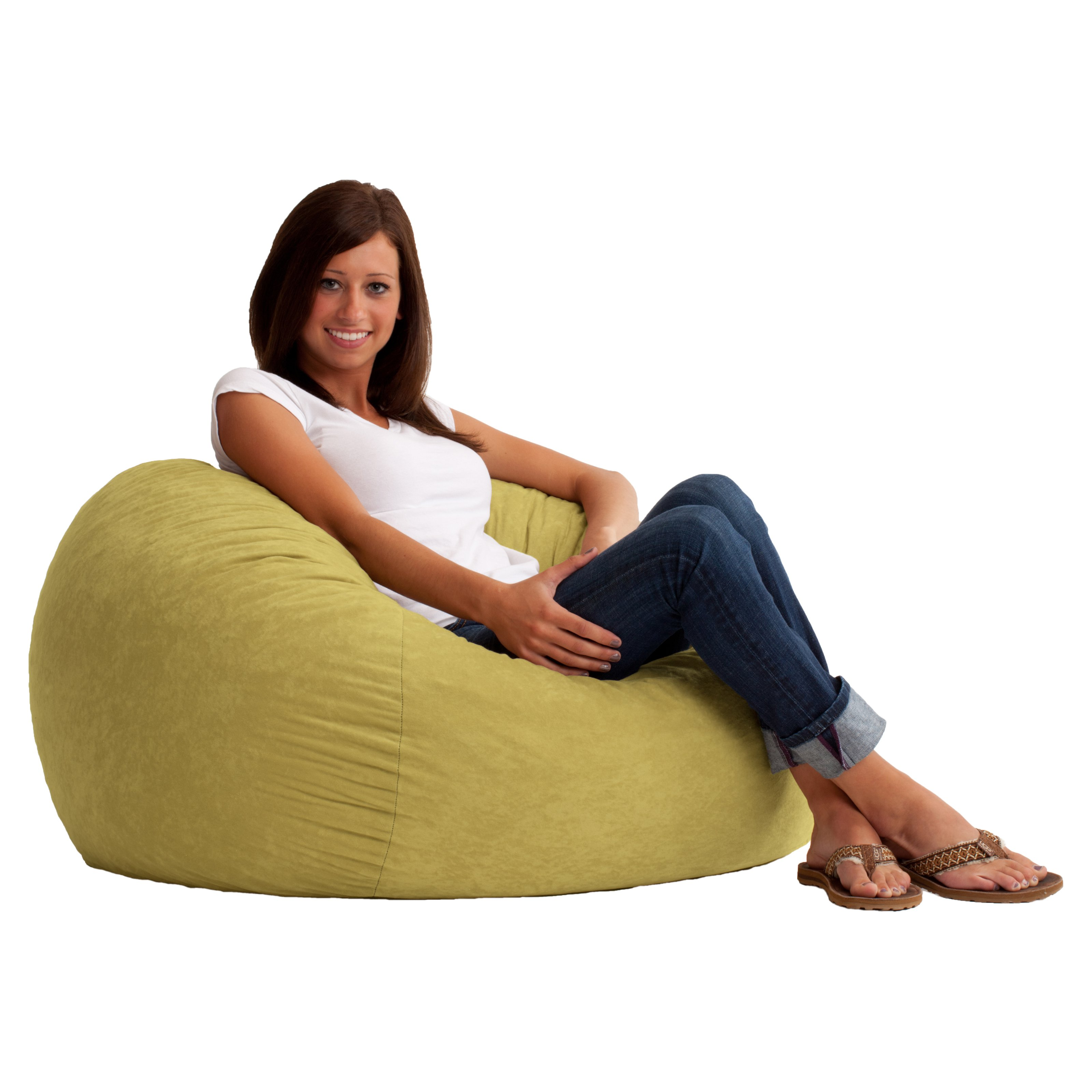 big joe bean bag chair multiple colors 33 x 32 25 mima moon high 3 39 fuf comfort suede ebay