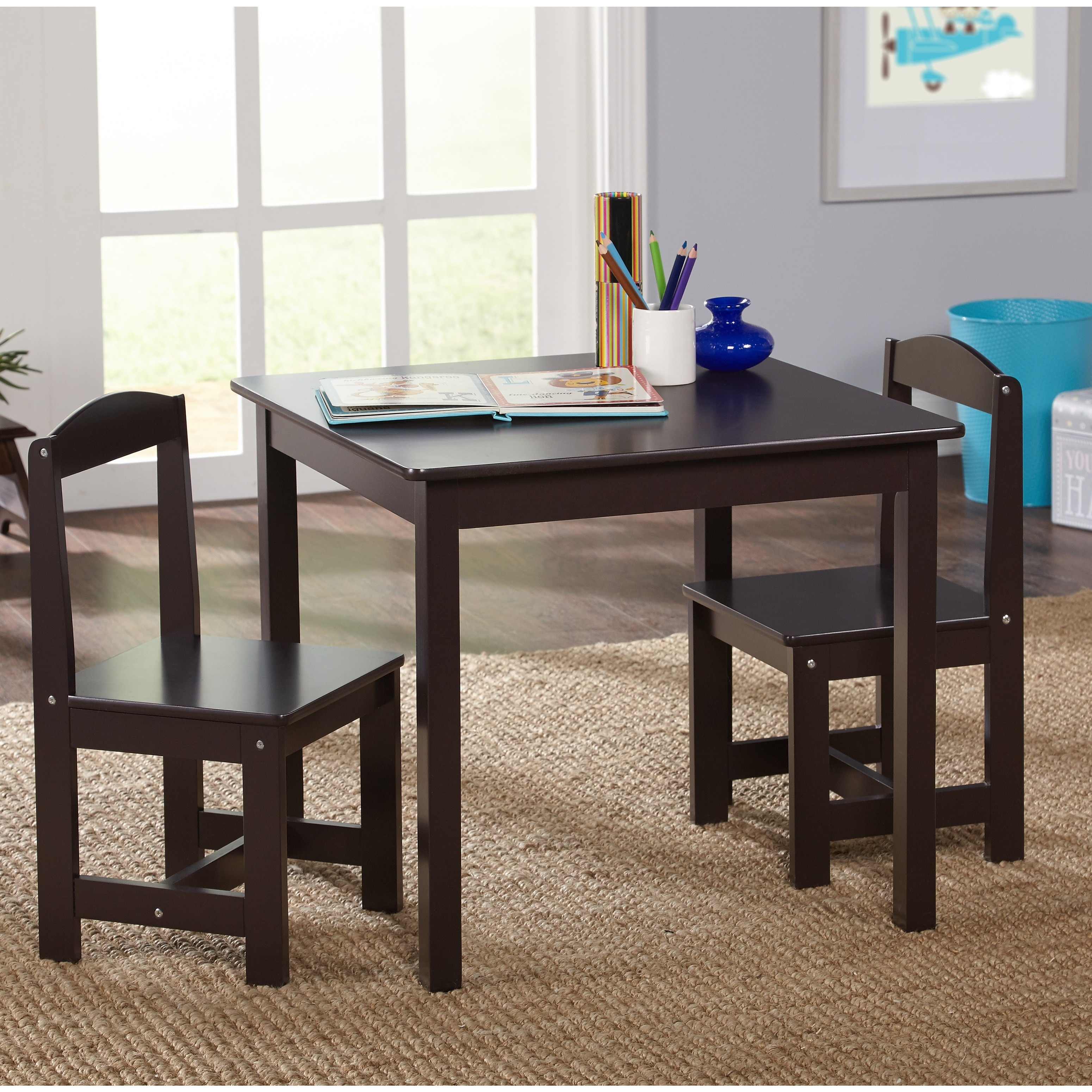 Hayden Kids 3 Piece Table And Chair Set Multiple Colors