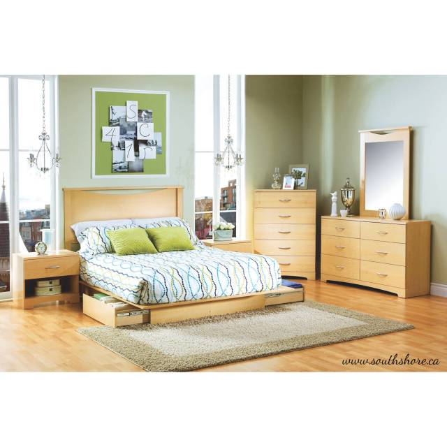 South Shore Contemporary Natural Maple Headboard 54 60