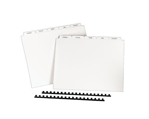 Avery Copier Tab Dividers, Unpunched, 5 Tab, White, 30
