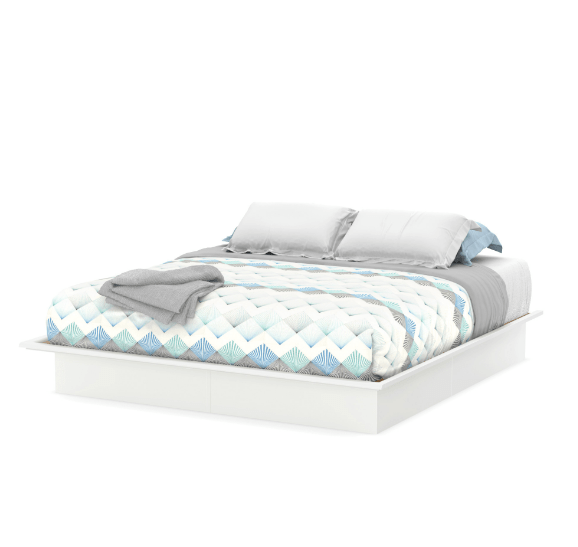 South Shore Basics Full Platform Bed With Molding 54