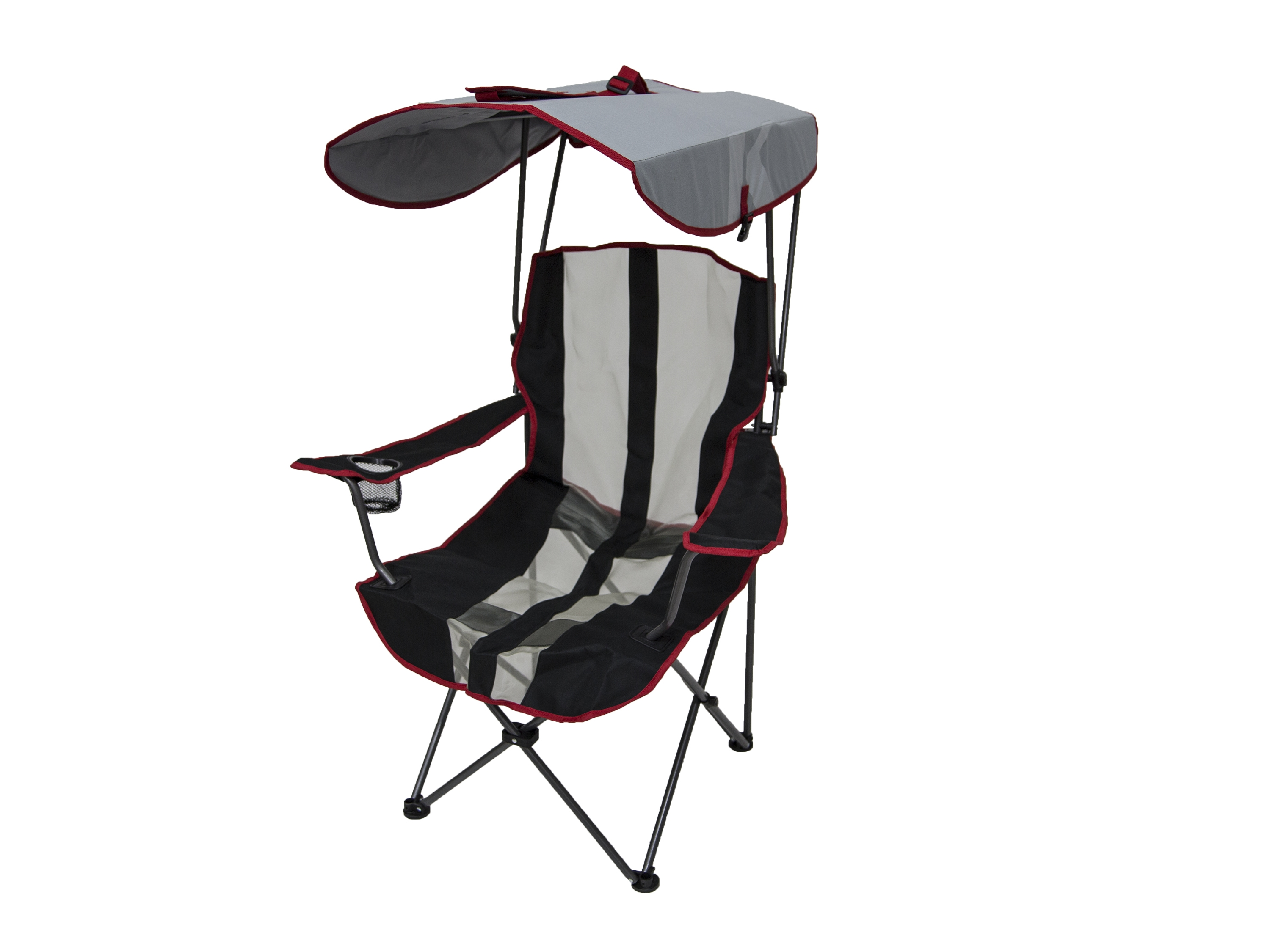 Foldable Lawn Chairs Details About Kelsyus Premium Canopy Foldable Outdoor Lawn Chair With Cup Holder Red 80187