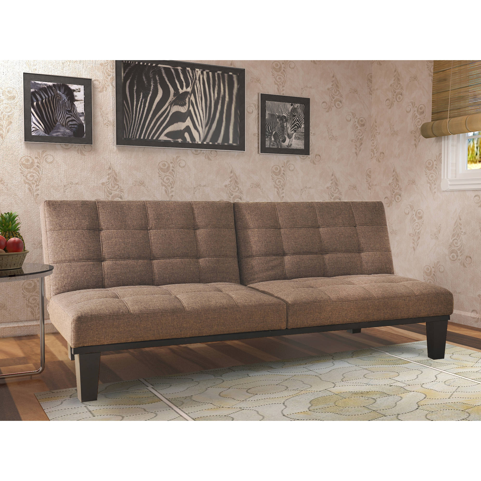 mainstays sofa sleeper with memory foam covers for pets target tweed futon multiple colors ebay
