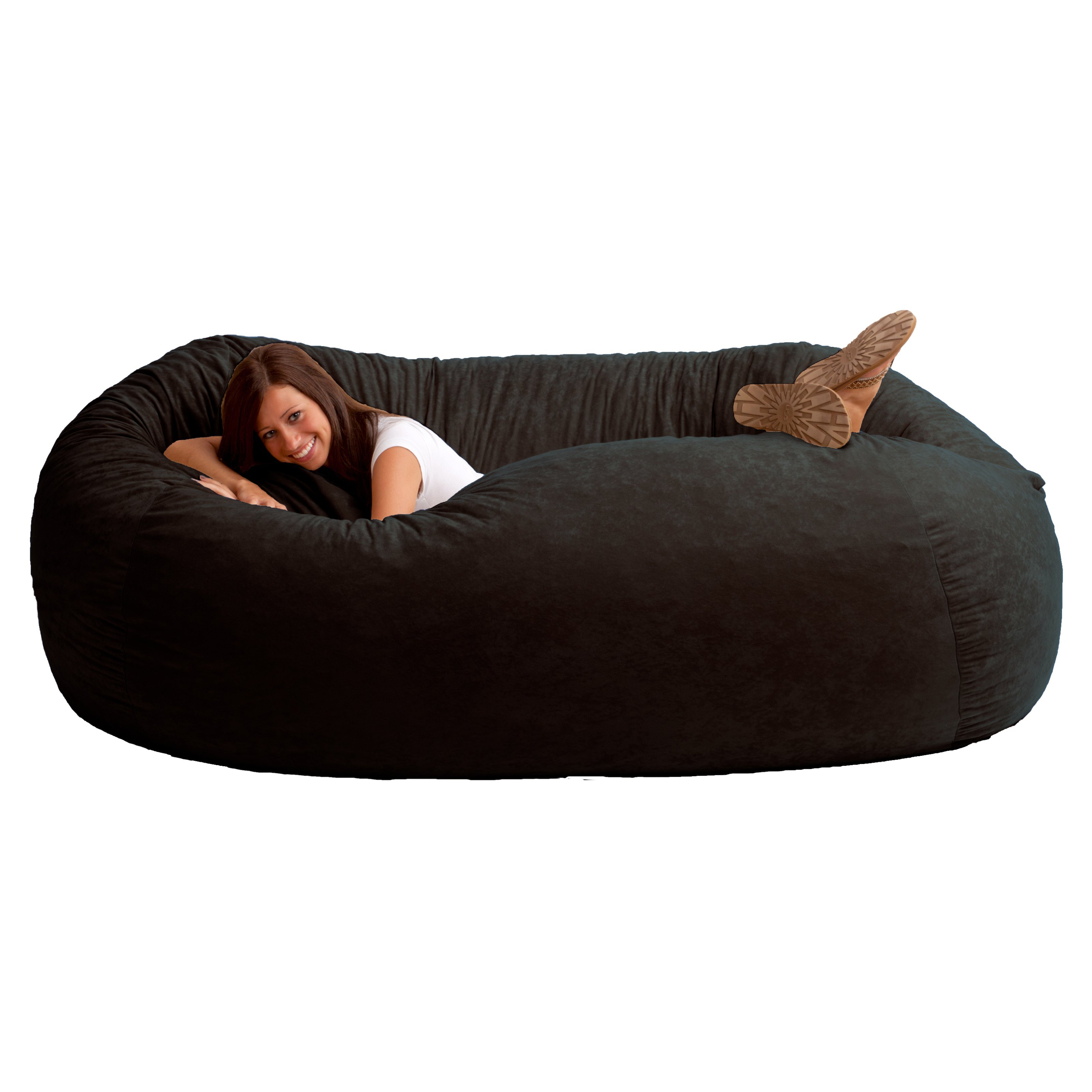 how much is a bean bag chair at walmart dining room covers christmas xxl 7 39 fuf comfort suede multiple colors ebay