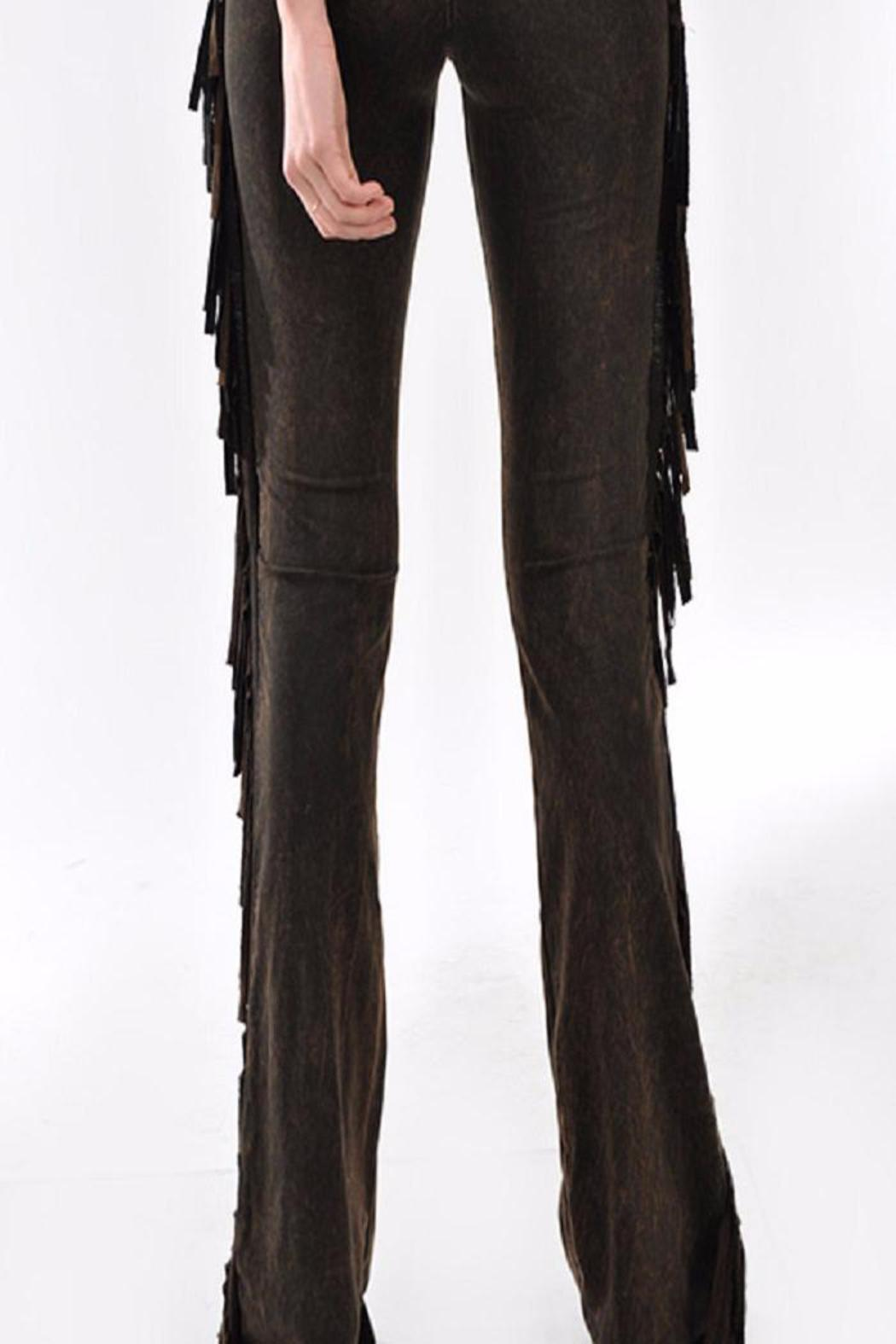 Tparty Fringe Yoga Pants from Wisconsin by The Dilly Bean