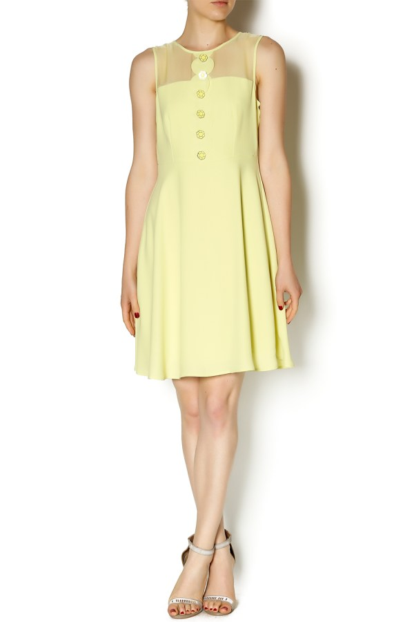 Darling Yellow Sheer Dress from San Francisco by Gala San