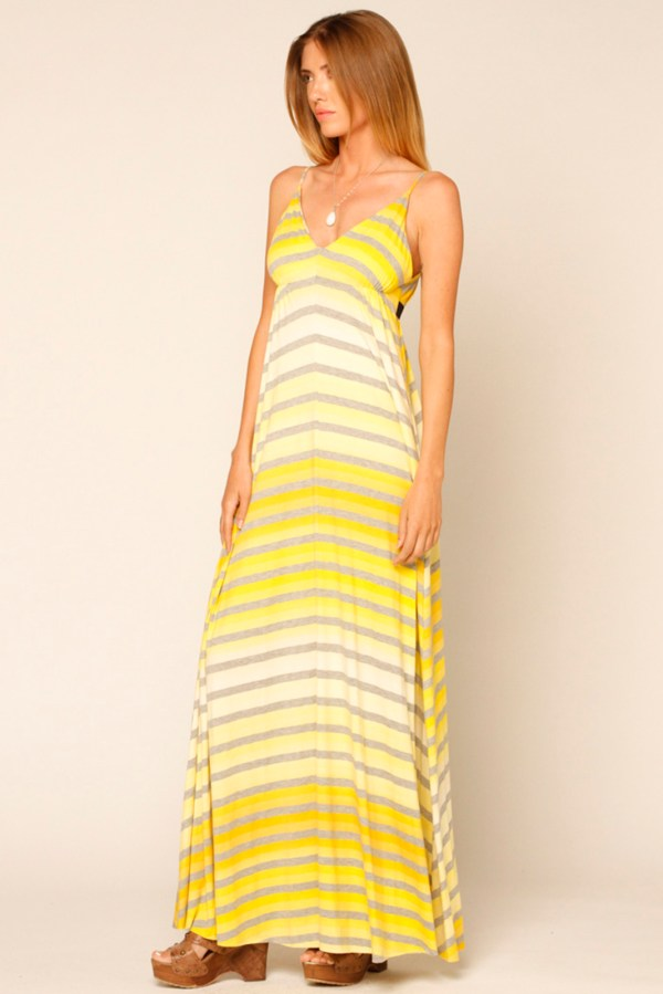 Eight Sixty Yellow Striped Maxi Dress Marina & Clothing Boutique Shoptiques