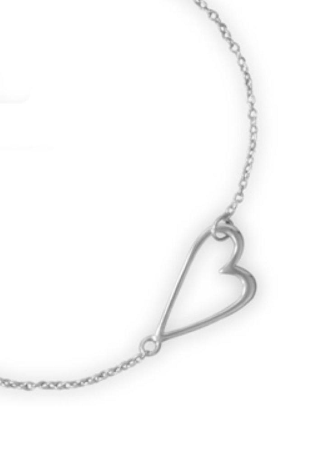 Mma Silver Sideways Heart Necklace From Utah By The