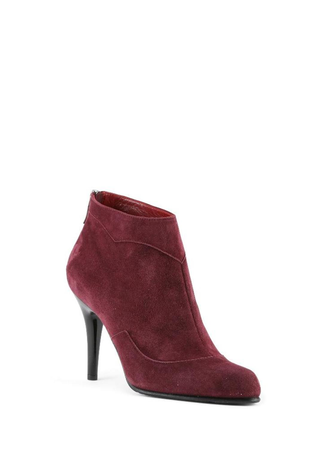 Amanda Jayne Burgundy Suede Bootie From Monmouthshire By