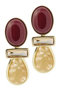 Balangands Red Statement Earrings from Milan by ...