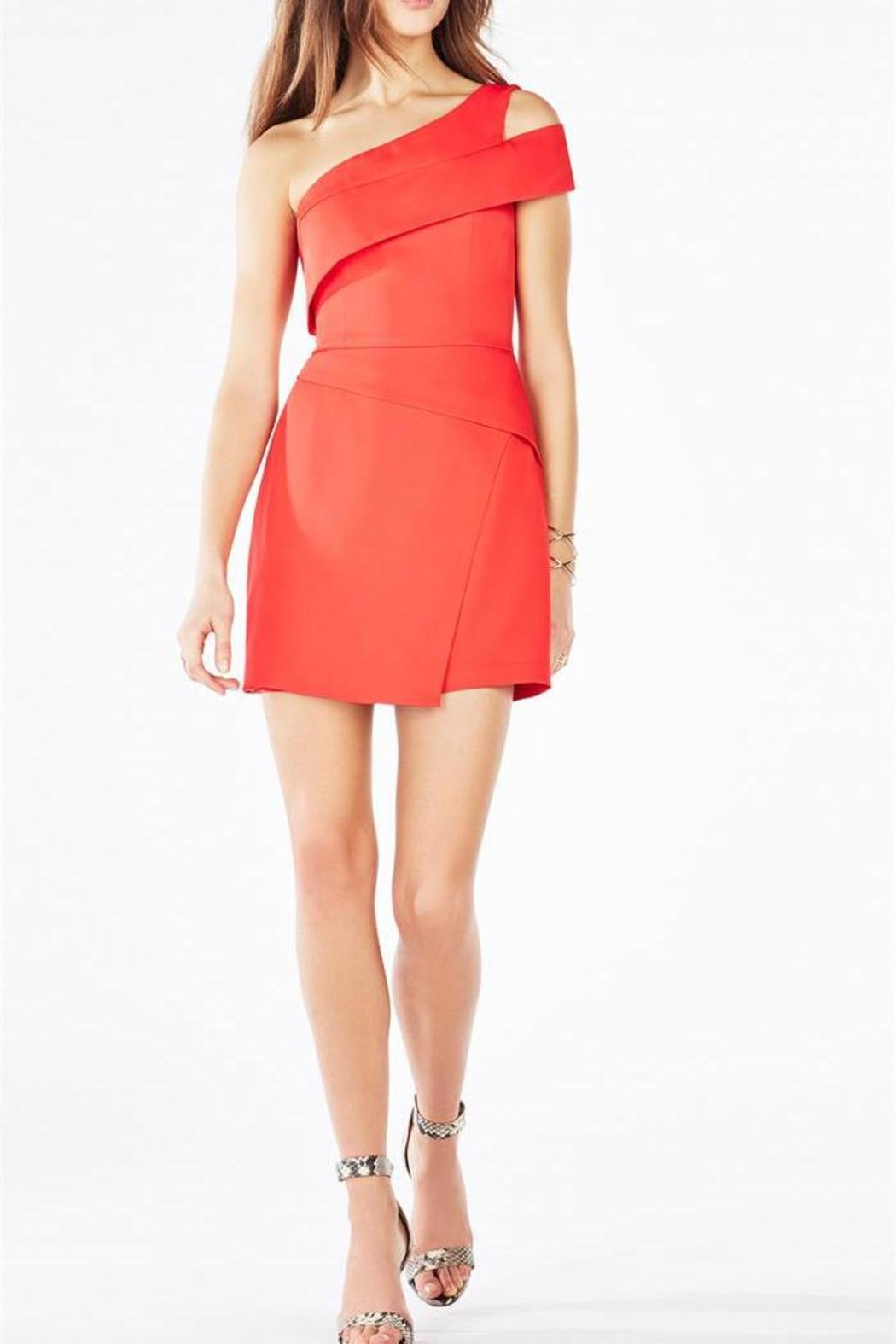 Bcbg Max Azria Red One Shoulder Dress From Back Bay By Max