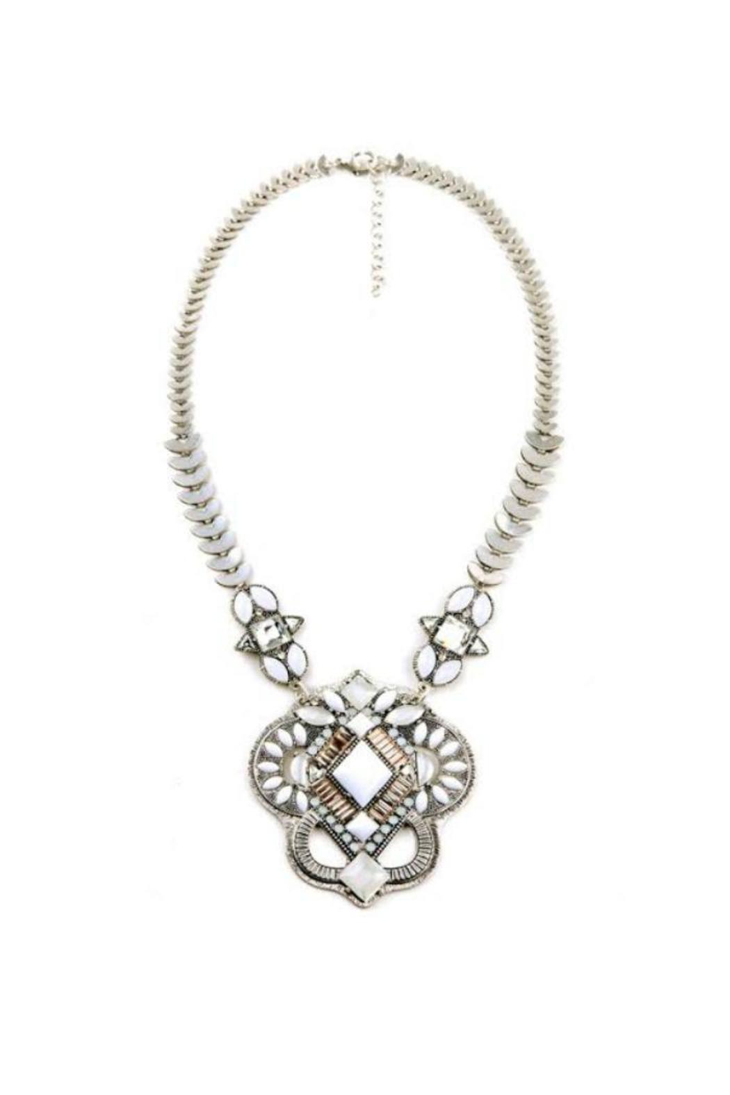 Beautysis White Stone Necklace From Indiana By Colokial