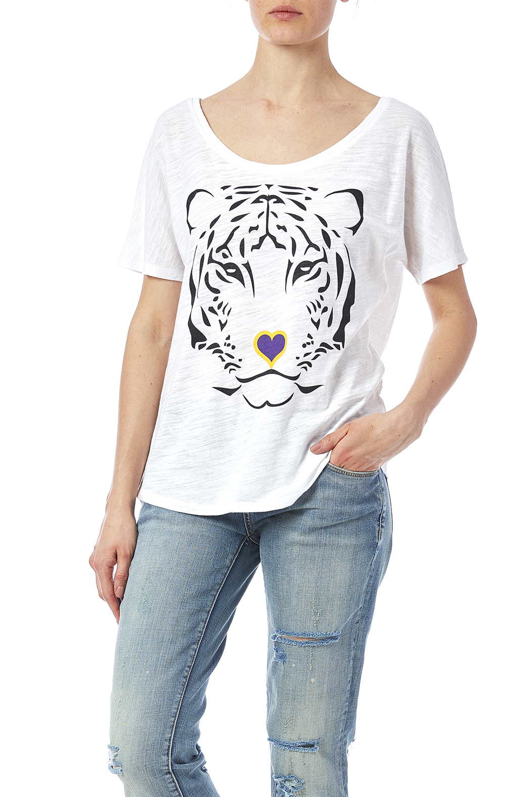 Blank Bella Canvas Tiger Love Tee From New Orleans By Sarah Ott Shoptiques