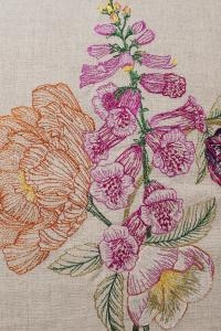 Coral & Tusk Foxglove Embroidered Pillow from Asheville by ...