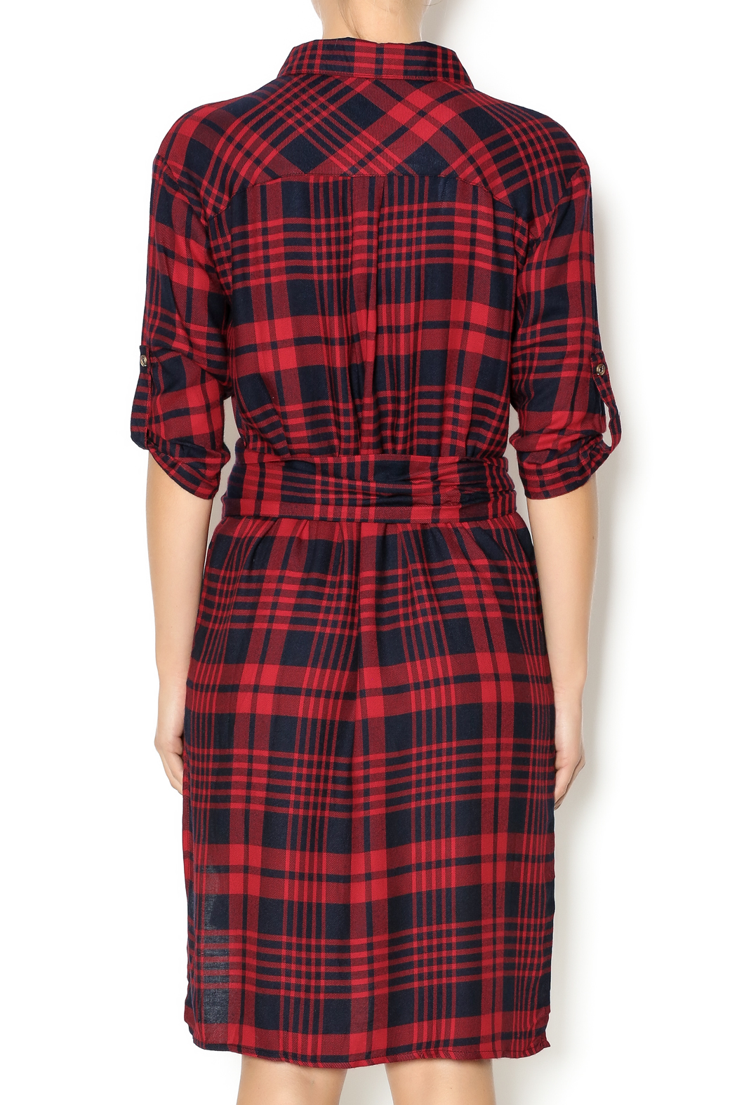 Essue Red Plaid Dress From New York City By Dor L'Dor