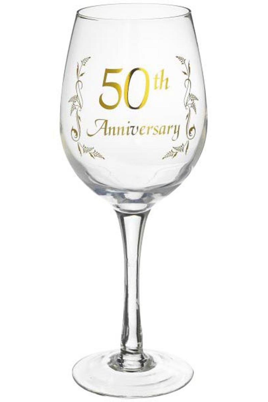 Ganz 50th Anniversary Wine Glass From Alabama By Jubilee