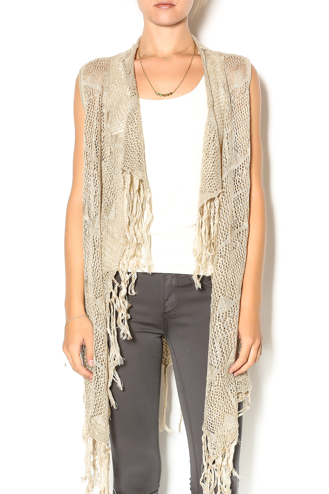 JOH Crochet Fringe Vest from Palm Beach by Glitz and Glam Boutique  Shoptiques
