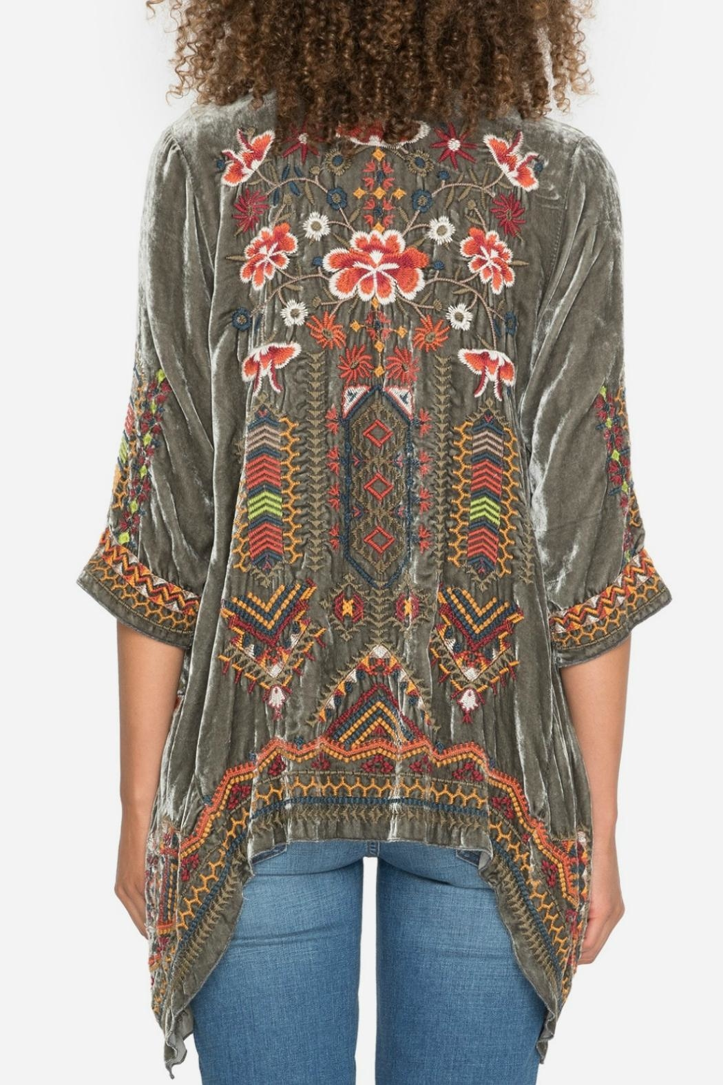 Johnny Was Velvet Embroidered Kimono From Texas By J