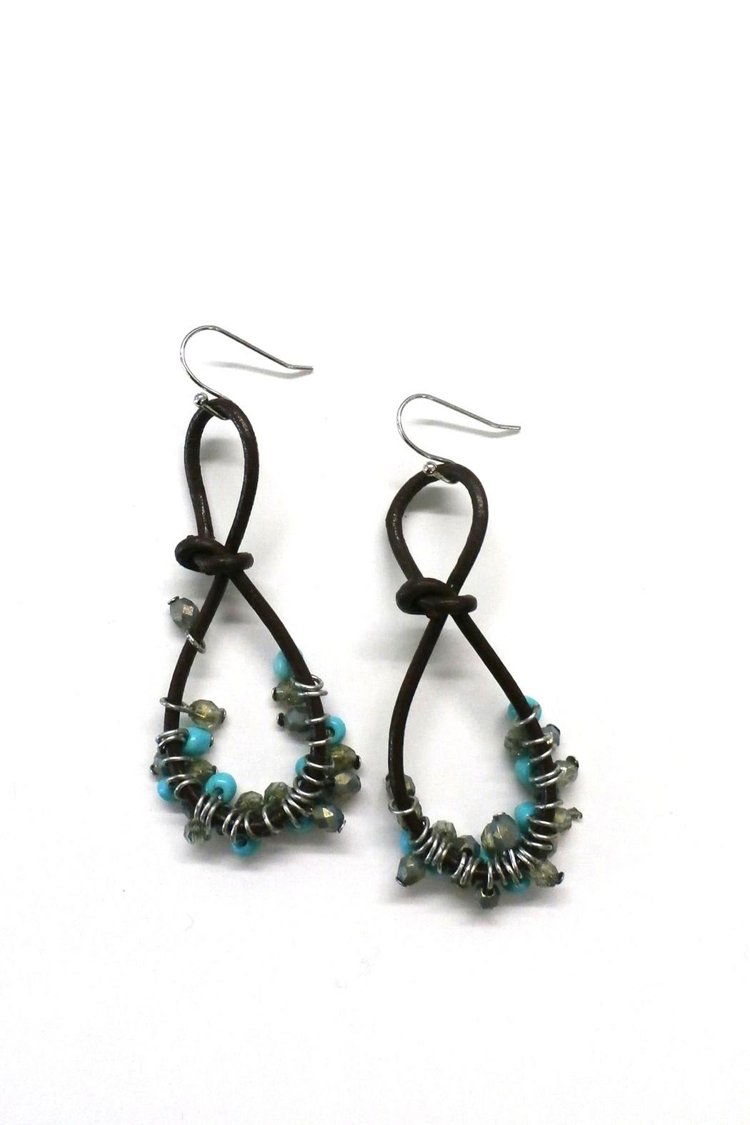 Leather Cord Earrings From Nashville By Tortuga Designs