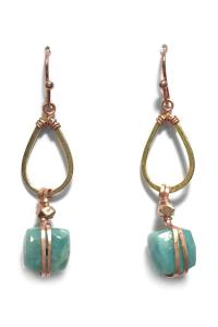 Light Years Collection Amazonite Drop Earrings from Chapel