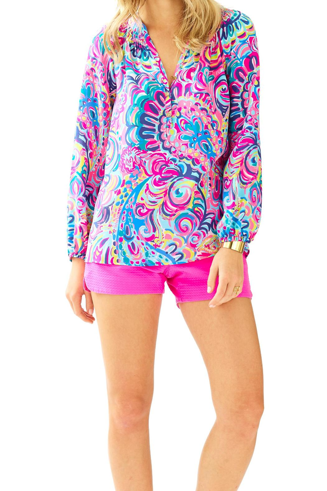 Lilly Pulitzer Elsa Top PsychedelicSunshine from