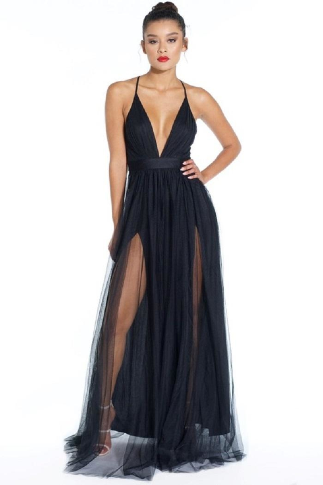 Luxxel Tulle Maxi Dress From New York City By Dor LDor
