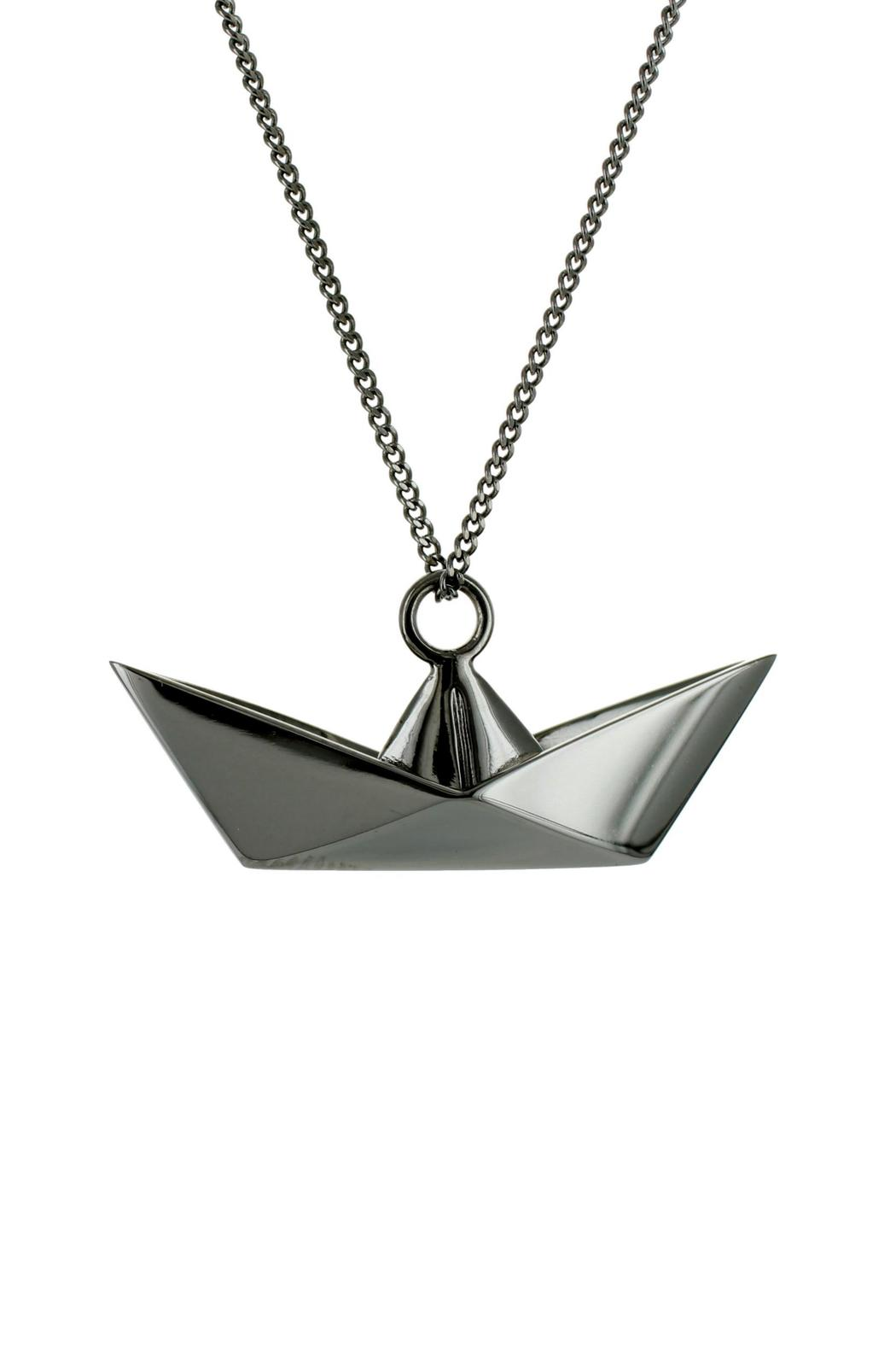 Origami Jewellery Necklace Boat Silver from Paris by
