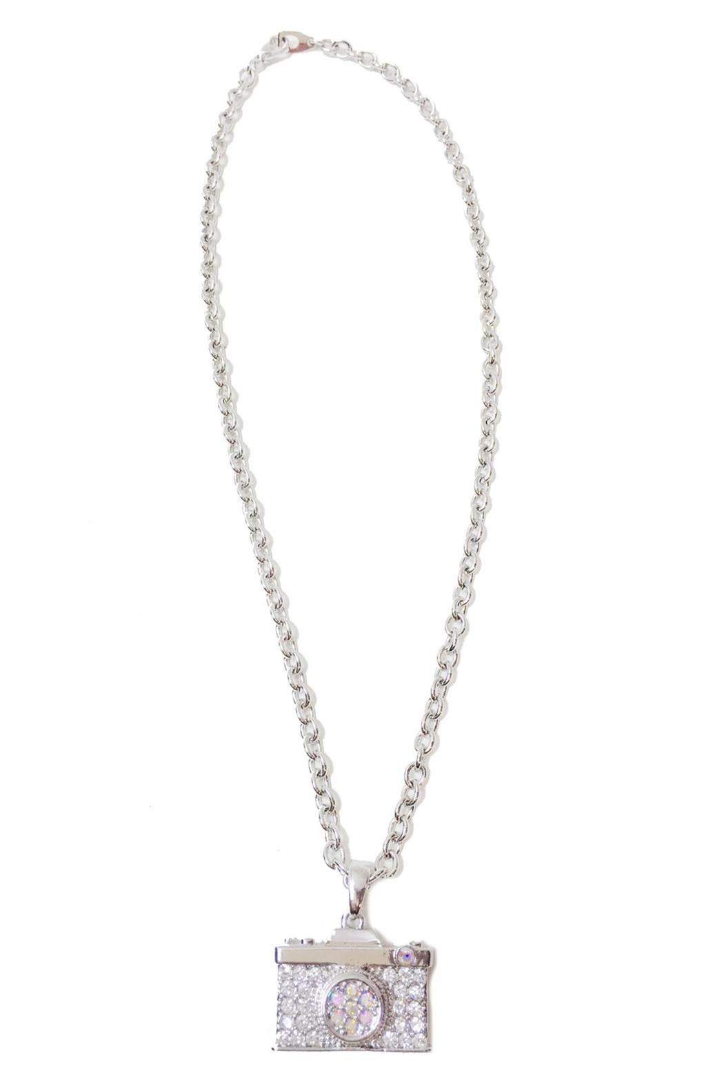 Silver Camera Necklace From Las Vegas By Glam Squad Shop