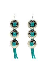 Silver Concho Earrings from Nashville by GOODBUY GIRLS ...