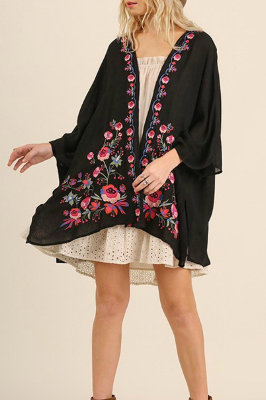 Umgee USA Plus Embroidered Kimono From Texas By Red Poppy