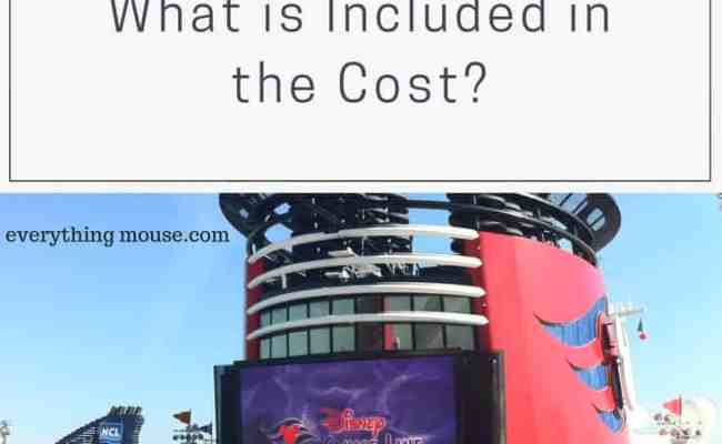 The Cost Of A Disney Cruise What Is Included Everythingmouse Guide To Disney