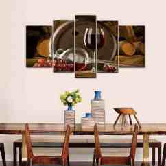 Grapes And Wine Kitchen Decor Outdoor With Freestanding Grill 11 Best Home Ideas Snob 5 Panel Wall Art Painting Red Barrel