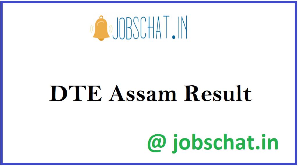 DTE Assam Result