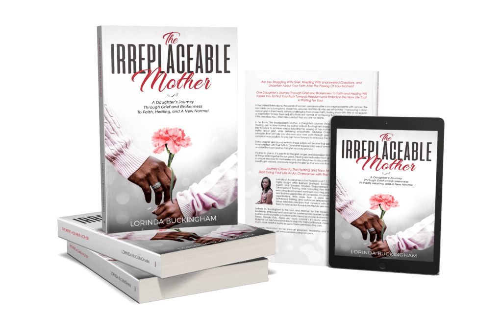 The Irreplaceable Mother: A Daughter's Journey Through Grief and Brokenness To Faith, Healing, and A New Normal by Lorinda Buckingham, Author