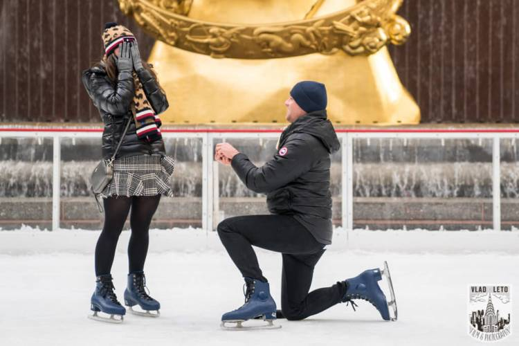 ice skating proposal, winter proposal ideas