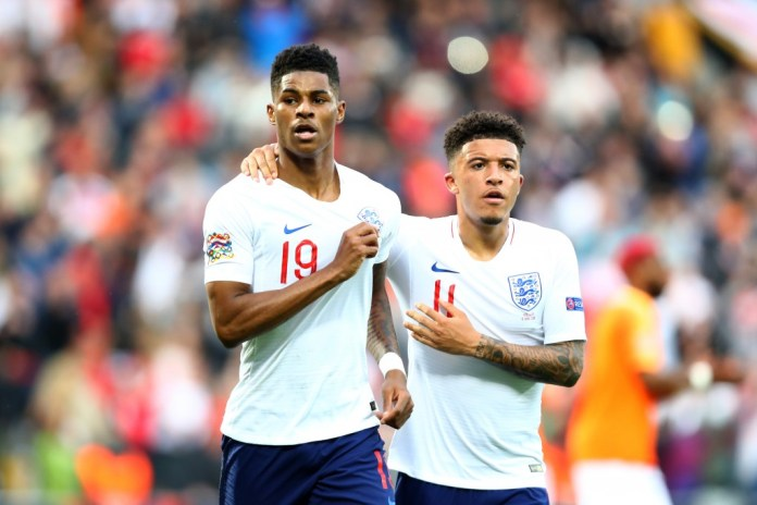 Marcus Rashford and Jadon Sancho are not a part of the England squad to take on Poland. (Photo by Dean Mouhtaropoulos/Getty Images)