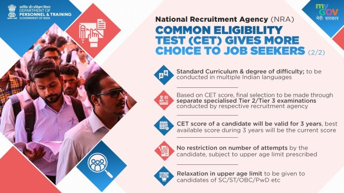 NRA CET Common Eligibility Test Approves by Cabinet Check Here