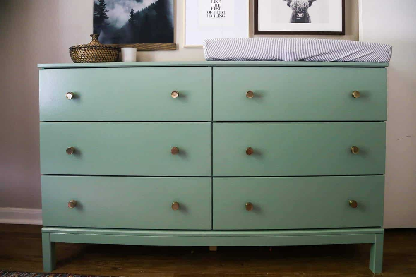 IKEA TARVA Dresser Hack From Dresser to Changing Table  Love  Renovations