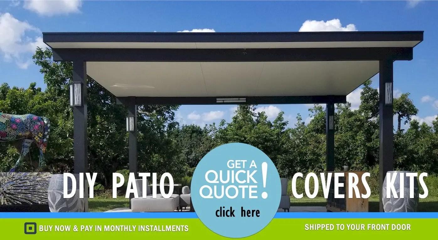 patio cover kits diy aluminum patio
