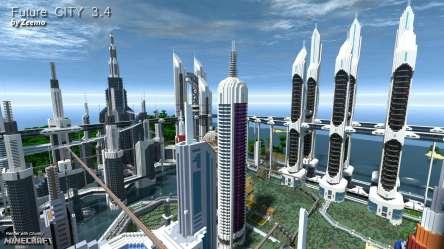 future minecraft building zukunftsstadt client