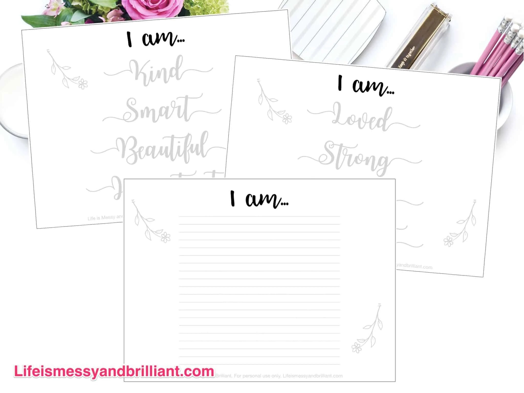 Free I Am Lettering Printable